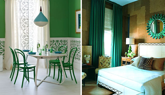 Decoraci n en verde esmeralda ideas for Grado superior decoracion de interiores