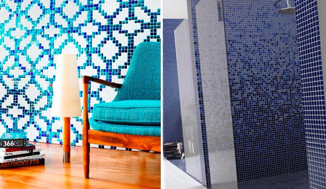 Baños Duchas Gresite:Cómo revestir paredes con gresite
