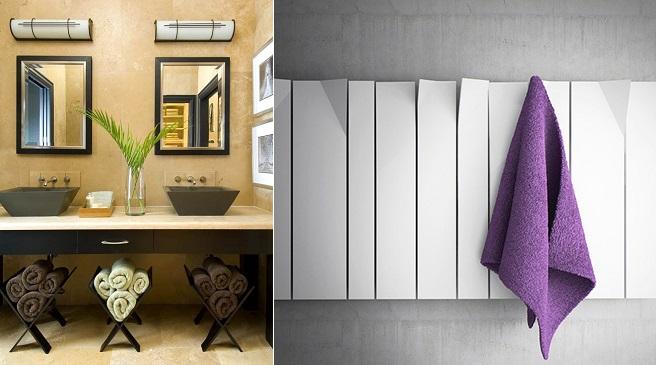 Ideas para guardar las toallas en el ba o for Colgador toallas para bano