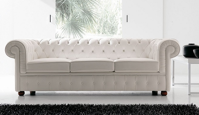 Poner un sof blanco en el sal n Sofas de cuero modernos