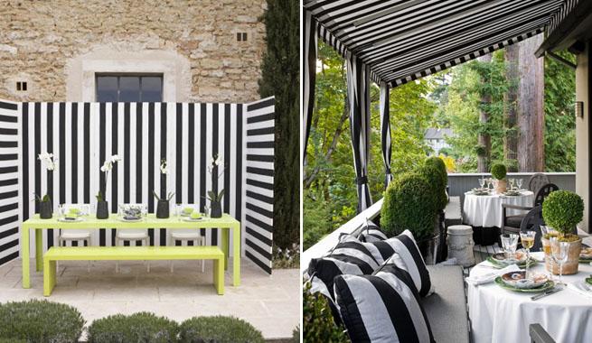 Decorar con rayas blancas y negras - Papeles pintados rayas verticales ...