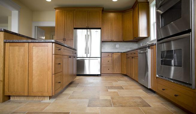 Renovar el suelo de la cocina - Suelo laminado autoadhesivo ...