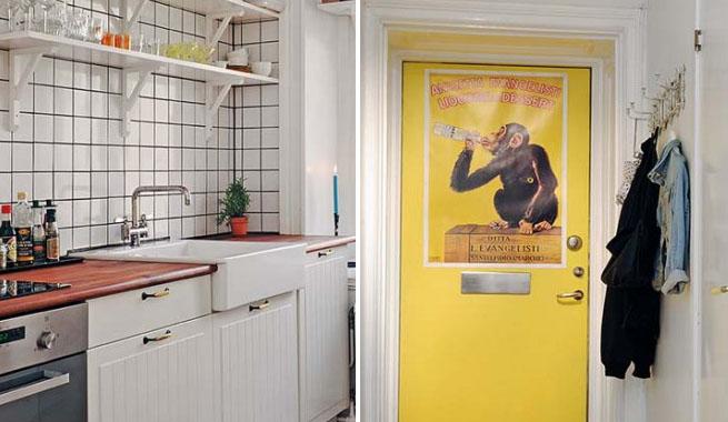 Un apartamento pequeño decorado con estilo