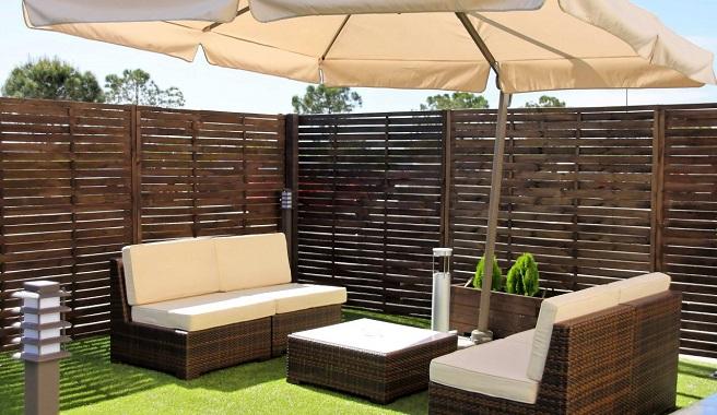 Consejos para distribuir el mobiliario de la terraza for Mobiliario para terrazas pequenas