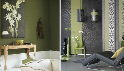 Dos habitaciones verde oliva