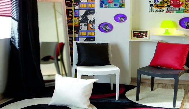 Habitaci n juvenil en estilo pop - Edredones leroy merlin ...