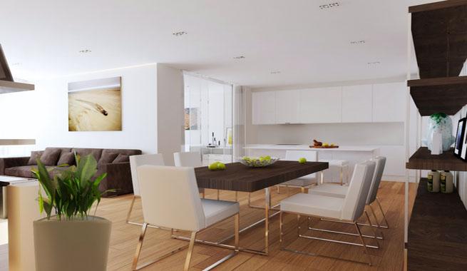 Organizar un sal n con cocina y comedor for Cocinas y salones abiertos