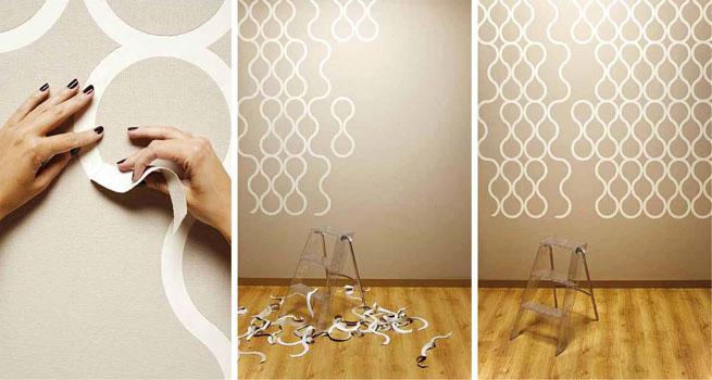 Papel pintado que se pela de znak - Pintar paredes originales ...