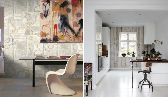 Papeles pintados para decorar tu casa - Papel pintado en cocina ...