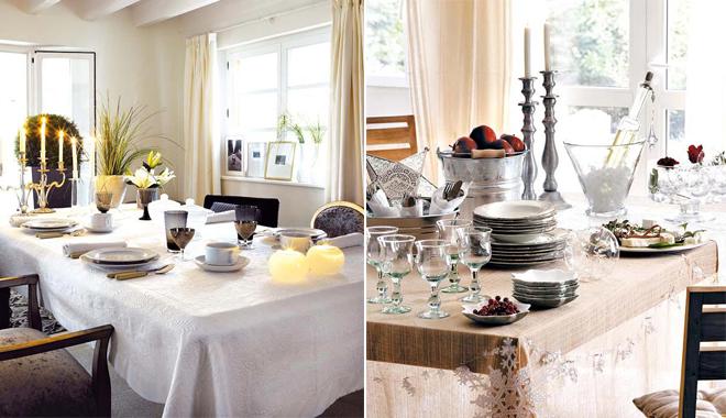 Manteler a y vajilla para una mesa perfecta - Manteles de mesa de comedor ...