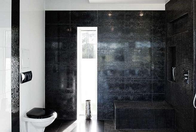 Consejos para decorar el ba o en negro - Bano de color negro ...