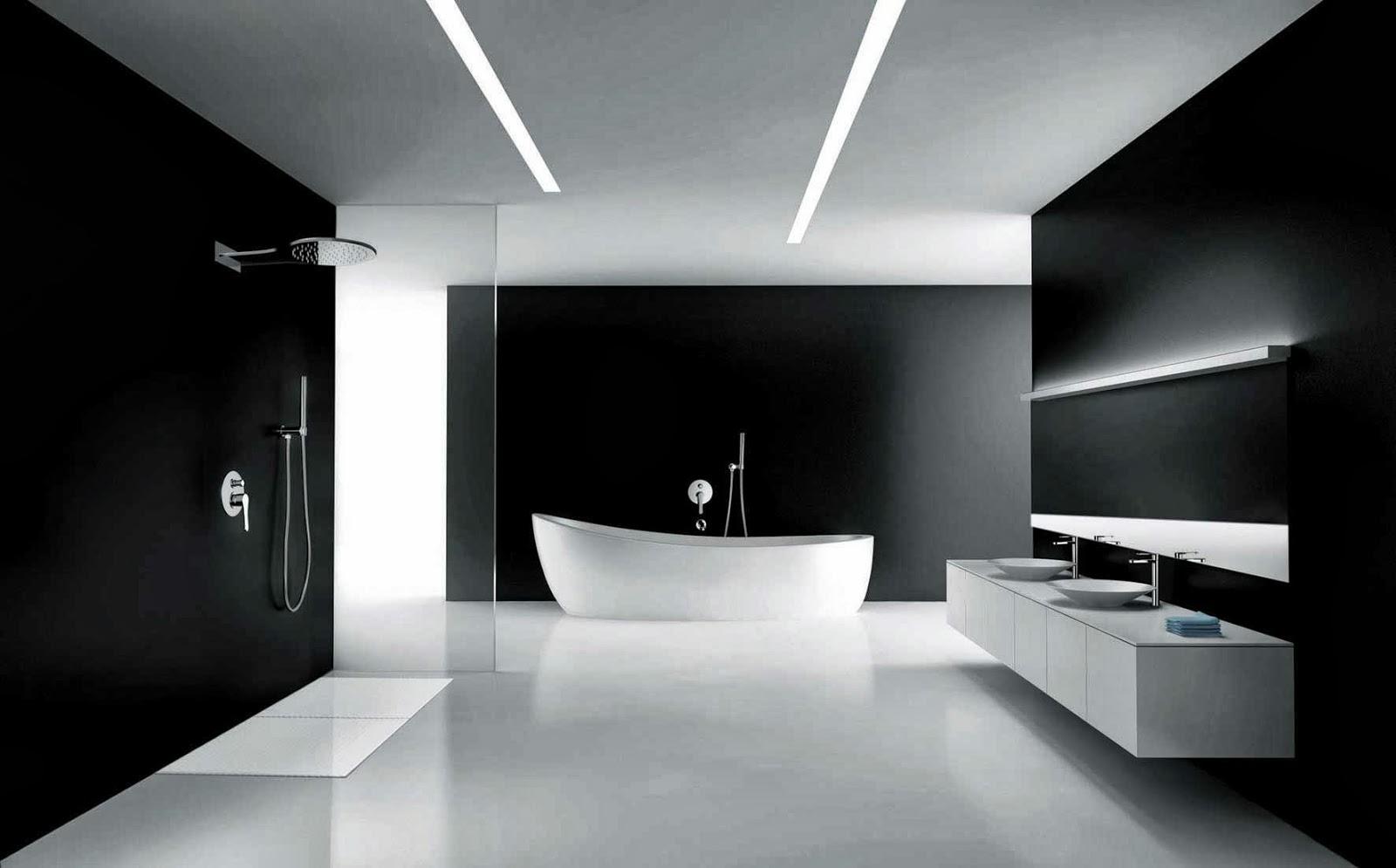 Baño Minimalista Gris:Banos minimalistas8