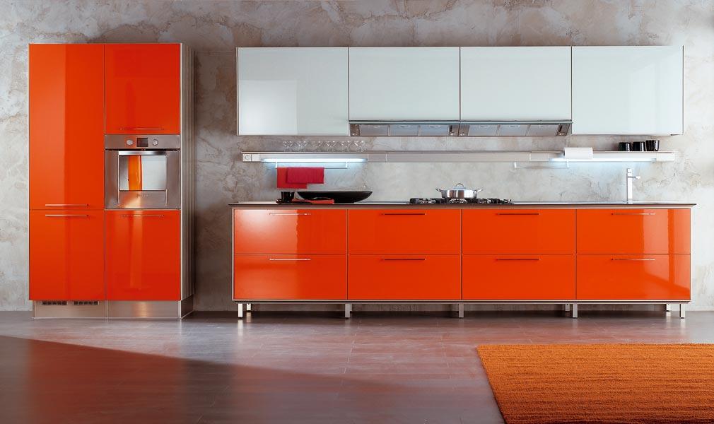 Decorar cocinas en naranja for Cocinas naranjas y blancas