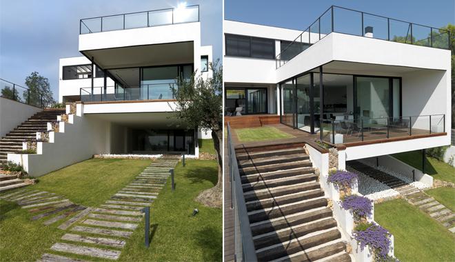 Una casa unifamiliar en valencia for Casas sobre terrazas