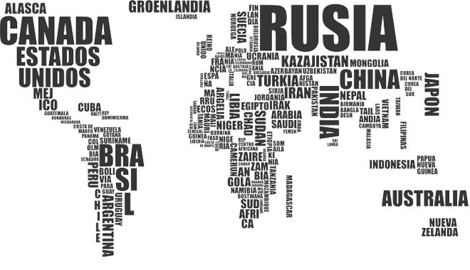 Decorar con vinilos del mundo - Vinilos mapa mundi ...