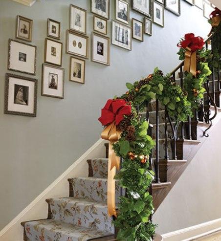 Accesorios para decorar la escalera en navidad for Accesorios para decorar en navidad