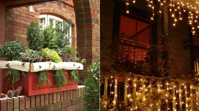 C mo decorar la terraza en navidad for Luces de exterior para terrazas
