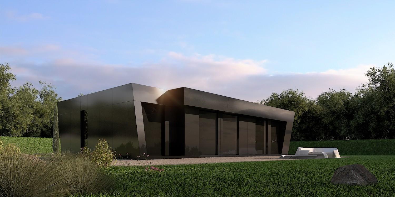 Vidrio negro 2 6483 1850 900 90 c Casas prefabricadas de diseno joaquin torres