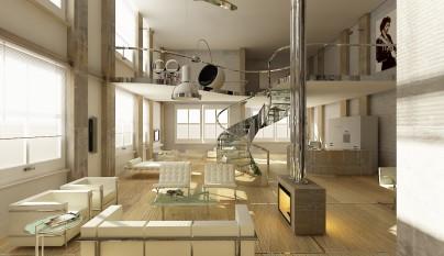 Warme-loft-inrichting-met-design-meubelen