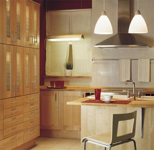 L mparas colgantes para la cocina - Como amueblar una cocina pequena ...