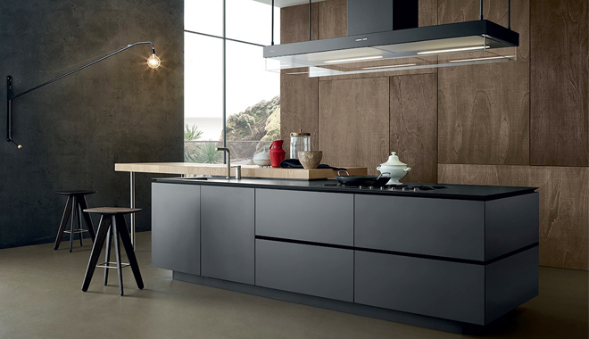 Madera y metal para tu cocina - Cocina moderna madera ...