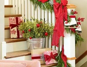 Decorablog revista de decoraci n for Adornos navidenos para escaleras