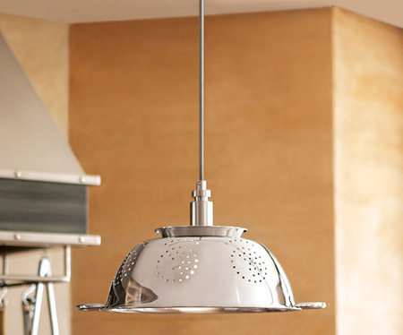 Espumadera lampara - Lamparas de cocina rusticas ...