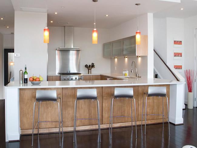 Lámparas colgantes para la cocina