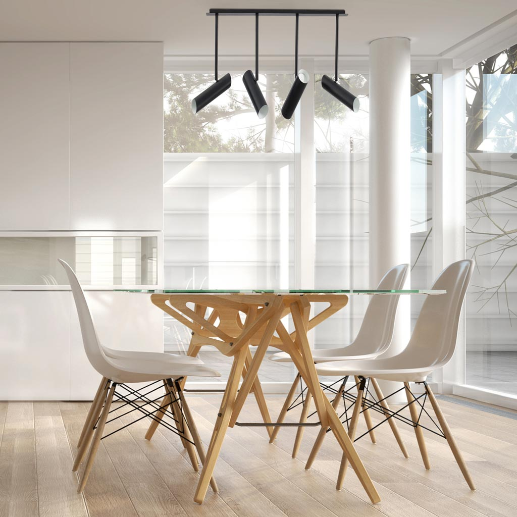 L mparas para decorar comedores - Iluminacion para cocina comedor ...