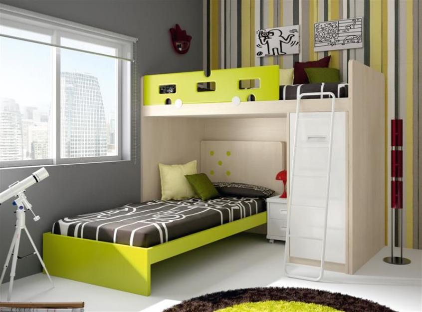 Literas para habitaciones infantiles - Habitaciones juveniles tipo tren ...