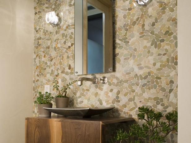 Ideas para decorar el ba o con piedras - Decoracion de paredes con piedra ...