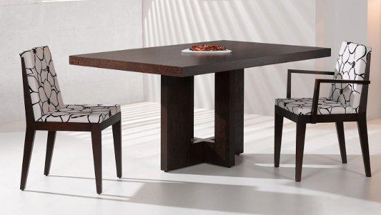 Cat logo de muebles de madera for Mesas de comedor cuadradas modernas