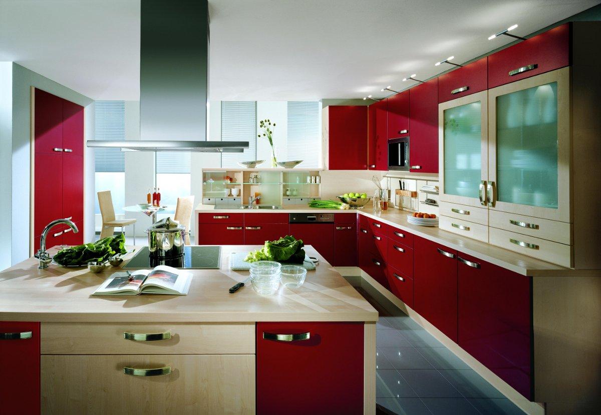 Fotos de cocinas decoradas - Cocinas de color rojo ...