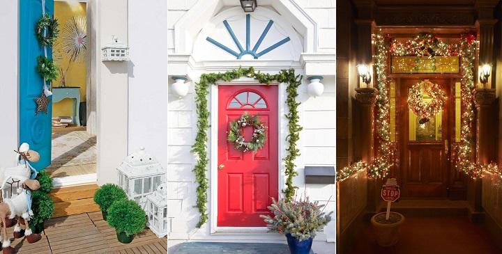 Ideas para decorar las puertas en navidad for Ideas para decorar la puerta en navidad