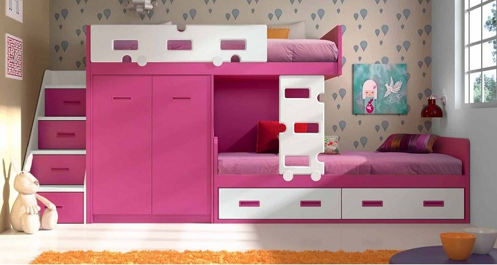 Literas para habitaciones infantiles for Cuartos para ninas con literas