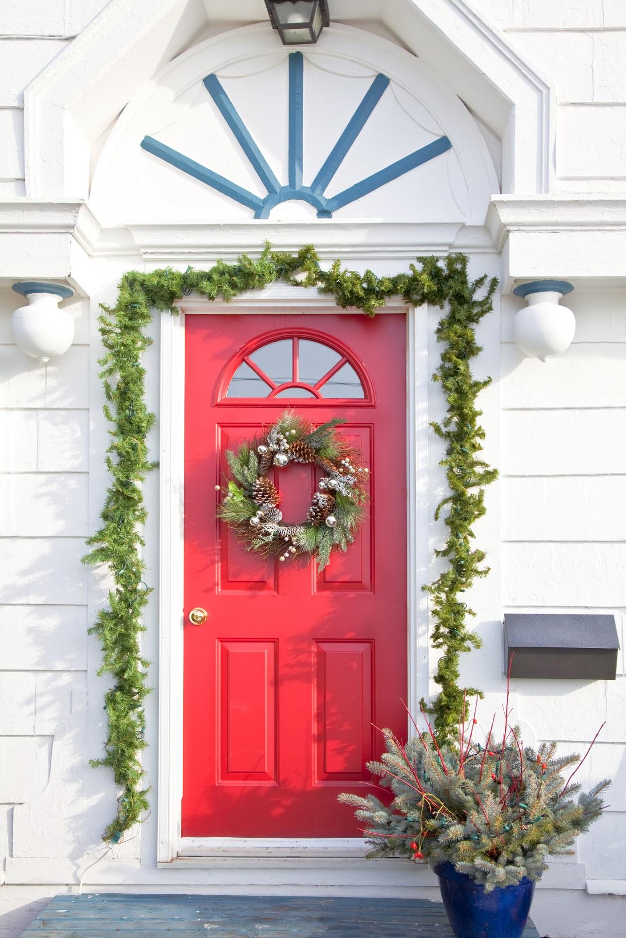 navidad decoracion de puertas