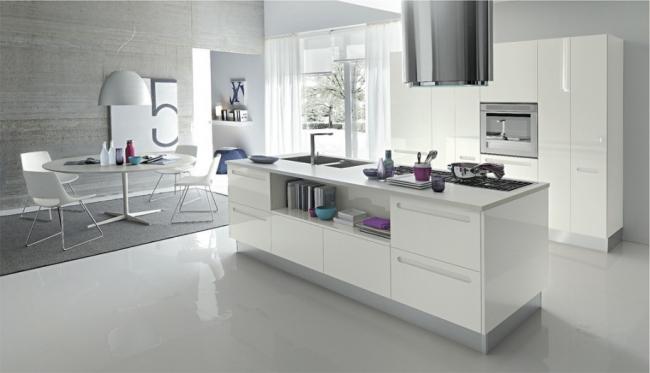 Дизайн белой кухни фотогалерея