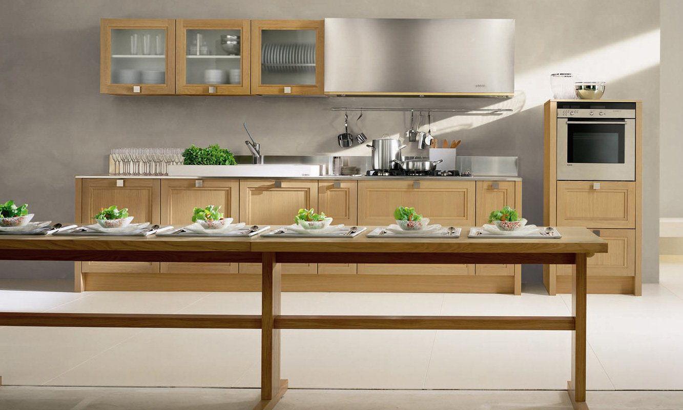 Cocina madera grande for Fotos de cocinas grandes