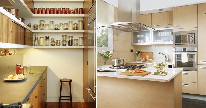 Decorar una cocina con poco espacio - Como amueblar una cocina pequena ...