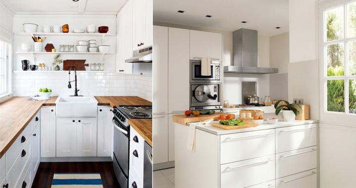 Decorar una cocina con poco espacio for Como amueblar una cocina