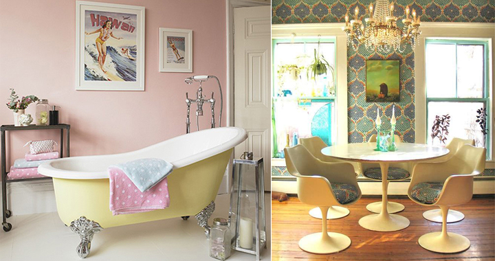 Decoraci n de estilo retro para el 2014 for Decoracion casa vintage online