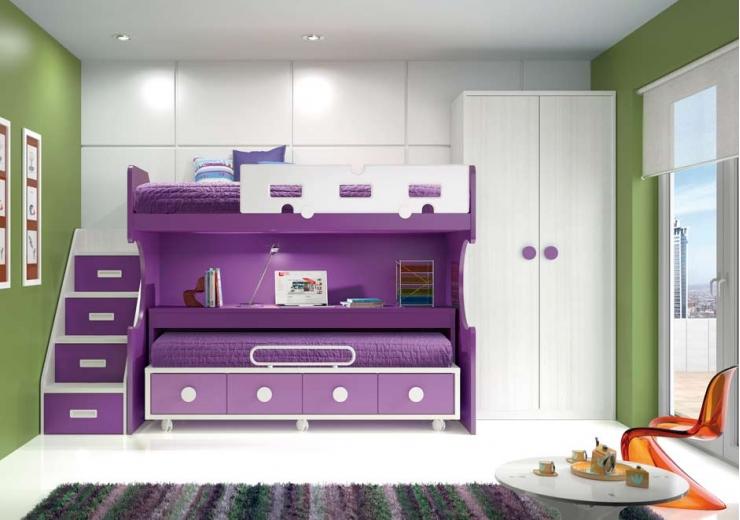 Literas para habitaciones infantiles - Habitacion con literas para ninos ...
