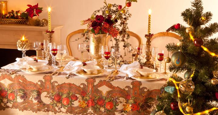 Manteles de navidad for Decoracion navidena para eventos