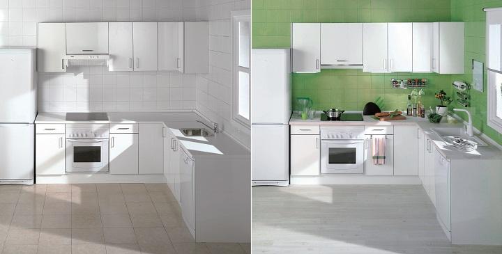 Renovar la cocina con pintura - Pintura para azulejos de cocina ...