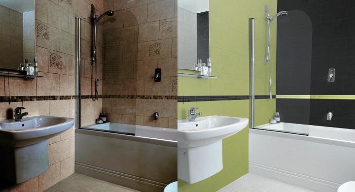 Esmaltes para los azulejos del ba o - Pinturas para azulejos de bano ...