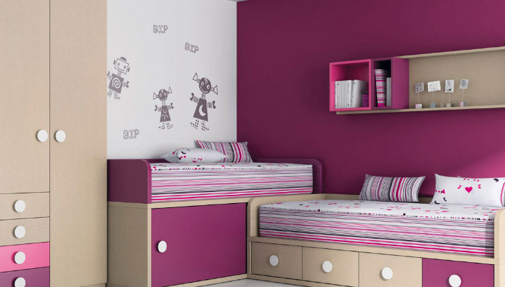 C mo decorar una habitaci n de ni a for Habitaciones para 2 ninas