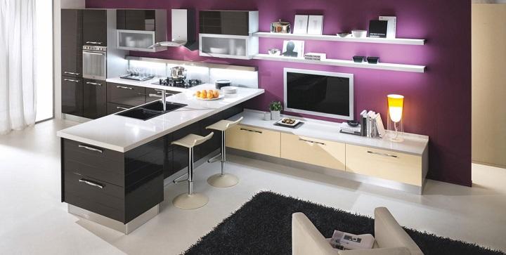 Muebles para una cocina americana for Cocina americana pequena moderna