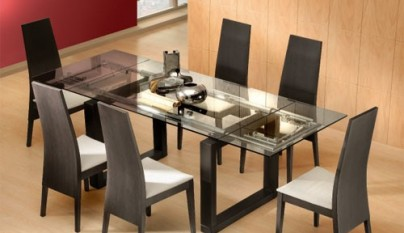 Muebles modernos para el comedor for Comedores pequea os de vidrio