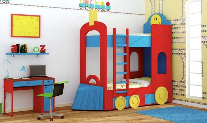 Camas infantiles con formas divertidas - Camas dobles infantiles para espacios reducidos ...
