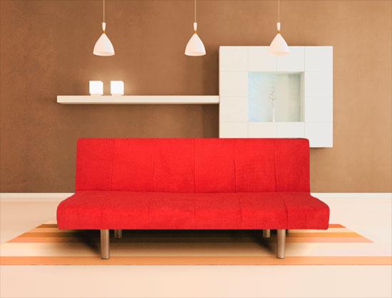 Cama sofa rojo economico for Sofa cama economico